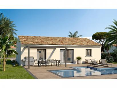 Modèle de maison Plain-pied GI 3 ch Design 3 chambres  : Photo 2