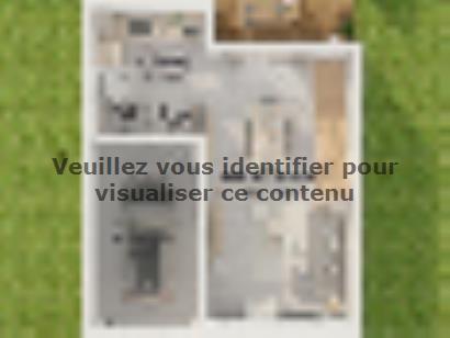 Plan de maison Etage GI 3 ch Design 3 chambres  : Photo 2