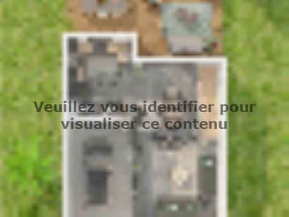 Plan de maison Etage GI 4 ch Design 4 chambres  : Photo 2