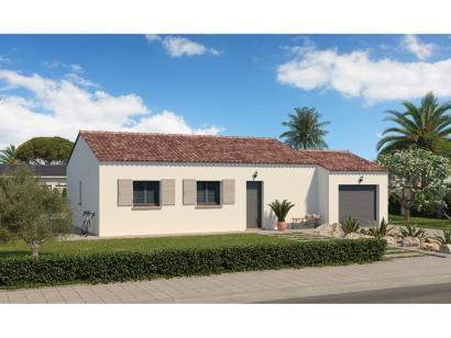 Modèle de maison Plain-pied GA 3 ch Trendy 3 chambres  : Photo 1