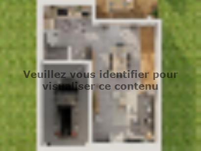 Plan de maison Etage GI 3 ch Trendy 3 chambres  : Photo 1