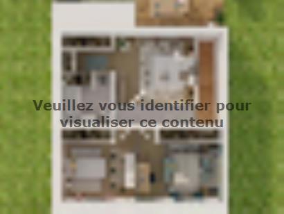 Plan de maison Etage GI 3 ch Trendy 3 chambres  : Photo 3