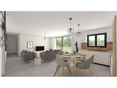Modèle de maison Plain-pied GA 4 ch Trendy 4 chambres  : Photo 4