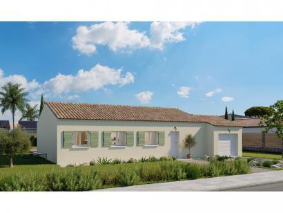 Modèle de maison Plain-pied GA 4 ch Trendy 4 chambres  : Photo 1