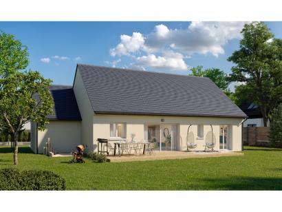 Modèle de maison Plain-pied GA 4 ch _ CHAMBRE TWIN + CELLIER XL + G 5 chambres  : Photo 2