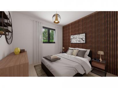 Modèle de maison Plain-pied GA 4 ch _ CHAMBRE TWIN + CELLIER XL + G 5 chambres  : Photo 5