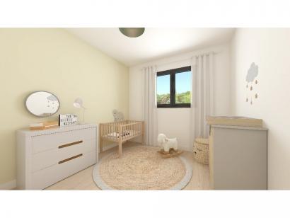 Modèle de maison Plain-pied GA 4 ch _ CHAMBRE TWIN + CELLIER XL + G 5 chambres  : Photo 7