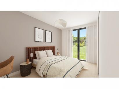 Modèle de maison Plain-pied GA 4 ch _ CHAMBRE TWIN + CELLIER XL + G 5 chambres  : Photo 8