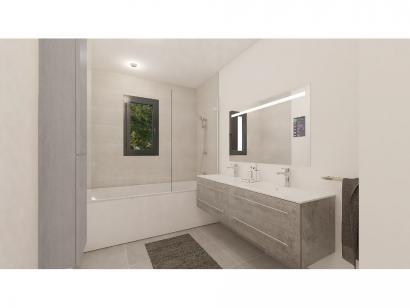 Modèle de maison Plain-pied GA 4 ch _ CHAMBRE TWIN + CELLIER XL + G 5 chambres  : Photo 9