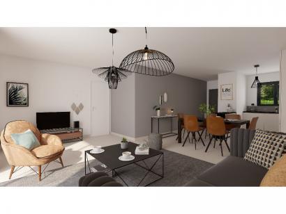 Modèle de maison Plain-pied GI 2 ch _ GARAGE SUITE PARENTALE 3 chambres  : Photo 4