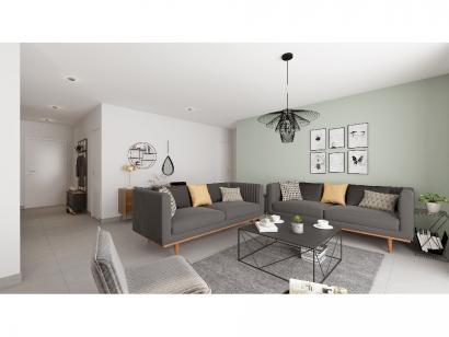 Modèle de maison Plain-pied GI 3 ch _ CHAMBRE TWIN + 2 x SUITES PAR 4 chambres  : Photo 4