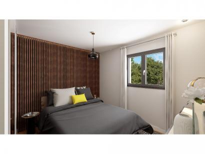 Modèle de maison Plain-pied GI 3 ch _ CHAMBRE TWIN + 2 x SUITES PAR 4 chambres  : Photo 6