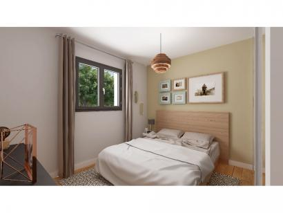Modèle de maison Plain-pied GI 3 ch _ CHAMBRE TWIN + 2 x SUITES PAR 4 chambres  : Photo 7