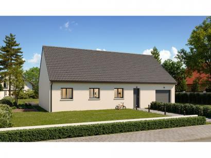 Modèle de maison Plain-pied GI 4 ch _ CHAMBRE TWIN + 2 x SUITES PAR 5 chambres  : Photo 1