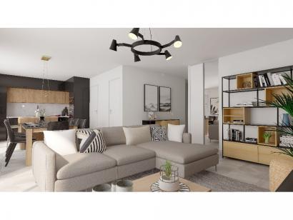 Modèle de maison Plain-pied GI 4 ch _ CHAMBRE TWIN + 2 x SUITES PAR 5 chambres  : Photo 3