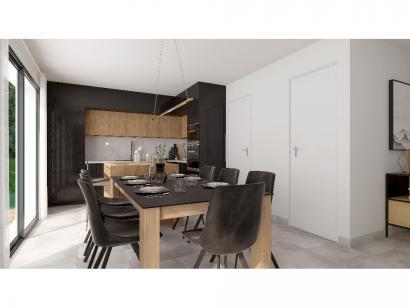 Modèle de maison Plain-pied GI 4 ch _ CHAMBRE TWIN + 2 x SUITES PAR 5 chambres  : Photo 6