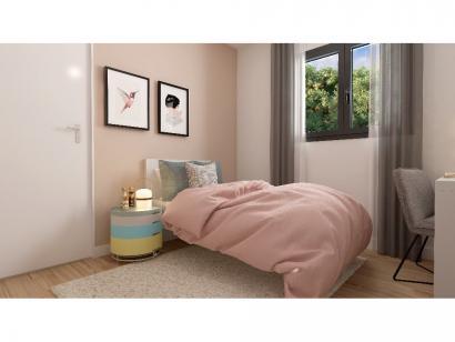 Modèle de maison Plain-pied GI 4 ch _ CHAMBRE TWIN + 2 x SUITES PAR 5 chambres  : Photo 10