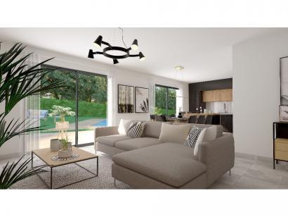 Modèle de maison Plain-pied GI 4 ch _ GARAGE SUITE PARENTALE 5 chambres  : Photo 4