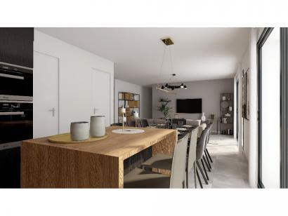 Modèle de maison Plain-pied GI 4 ch _ GARAGE SUITE PARENTALE 5 chambres  : Photo 5