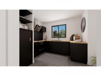 Modèle de maison Etage GI 4 ch - GARAGE SUITE PARENTALE 4 chambres  : Photo 4