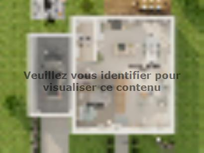 Plan de maison Combles GA 4 ch Design 3 chambres  : Photo 2