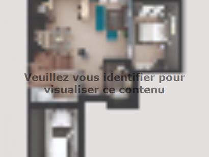 Plan de maison AM-104-ETG-R-GA 4 chambres  : Photo 1