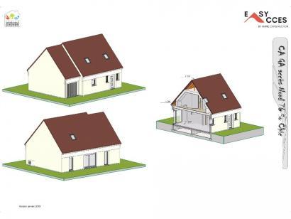 Modèle de maison CA GA accès Nord 76 3 chambres  : Photo 1