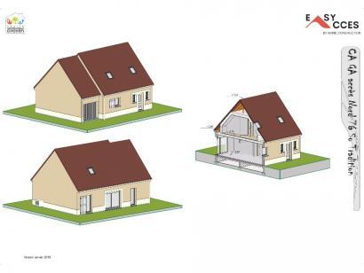 Modèle de maison CA GA accès Nord 76 3 chambres  : Photo 2