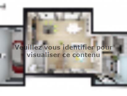 Plan de maison SM_125_R+1_GA_82801 4 chambres  : Photo 1