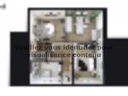 Plan de maison SM_125_R+1_GA_82801 4 chambres  : Photo 2