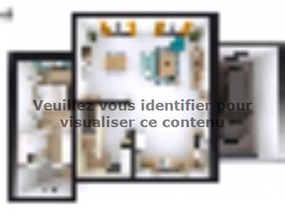 Plan de maison SM_134_R+1_GA_84459 4 chambres  : Photo 1
