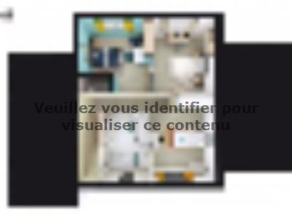 Plan de maison SM_134_R+1_GA_84459 4 chambres  : Photo 2