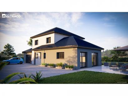 Modèle de maison SM_174_R+1_GA_87297 4 chambres  : Photo 1