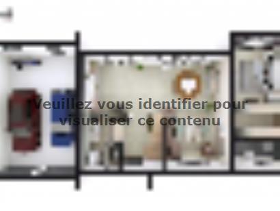 Plan de maison SM_150_R+1_GA_104177 4 chambres  : Photo 1