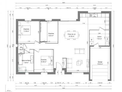 Maison neuve  à  Beaumont-la-Ronce (37360)  - 193000 € * : photo 3