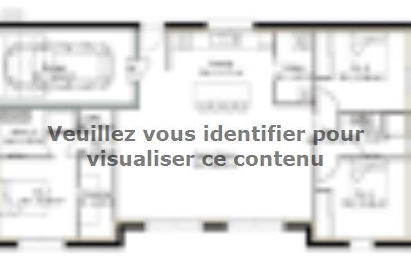 Plan de maison PP104_P1471V2 3 chambres  : Photo 1