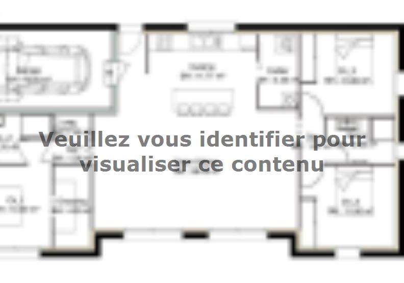Plan de maison PP104_P1471V2 : Vignette 1