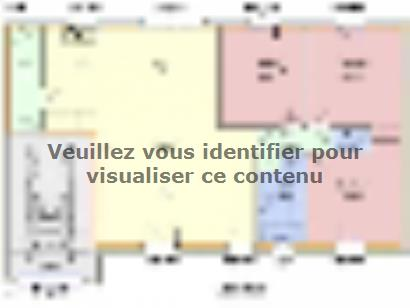 Plan de maison JASMIN C1G-90 3 chambres  : Photo 1
