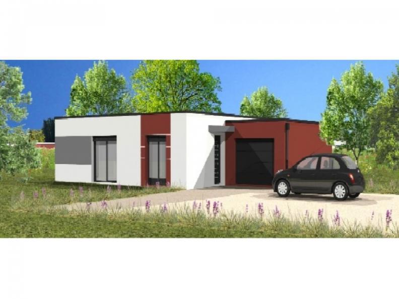 Modèle de maison Avant-Projet FLOCELLIERE - 83 m2 - 2 chambres : Vignette 1