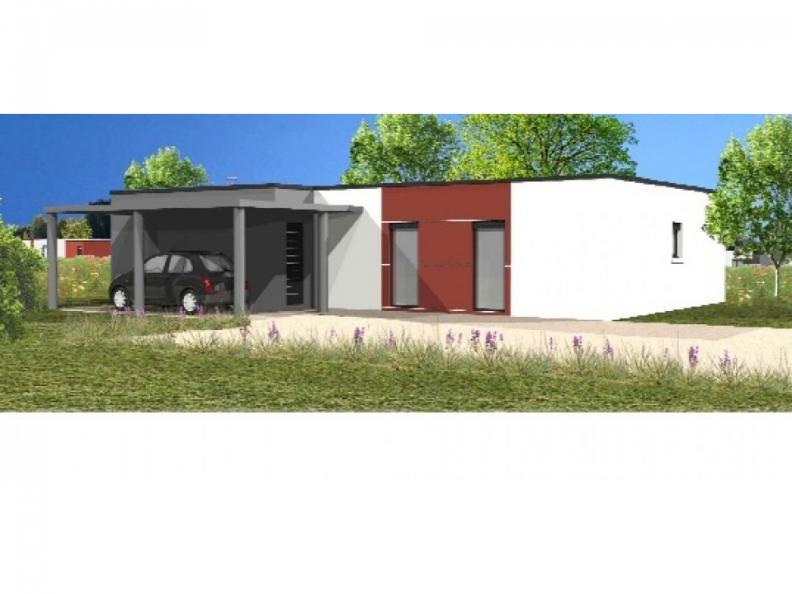 Modèle de maison Avant-projet L'AIGUILLON SUR MER - 97 m² - 3 chamb : Vignette 1