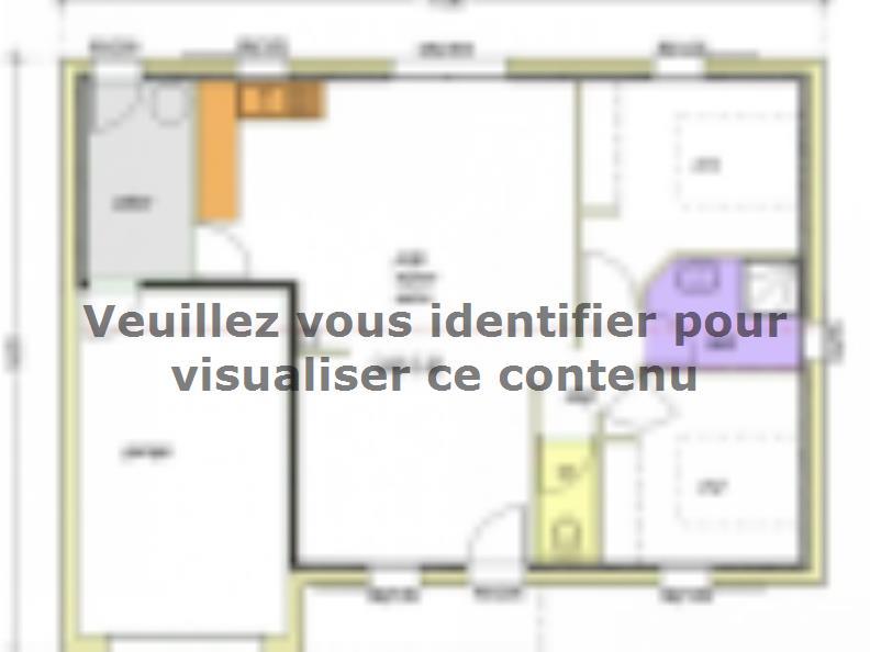 Plan de maison Avant-Projet NOTRE DAME DE MONTS - 67 m² - 2 chamb : Vignette 2