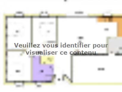 Plan de maison Avant-projet MARANS - 80 m² - 3 chambres 3 chambres  : Photo 1