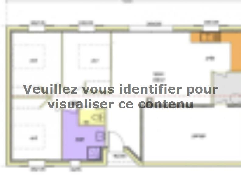 Plan de maison Avant-projet MARANS - 80 m² - 3 chambres : Vignette 1