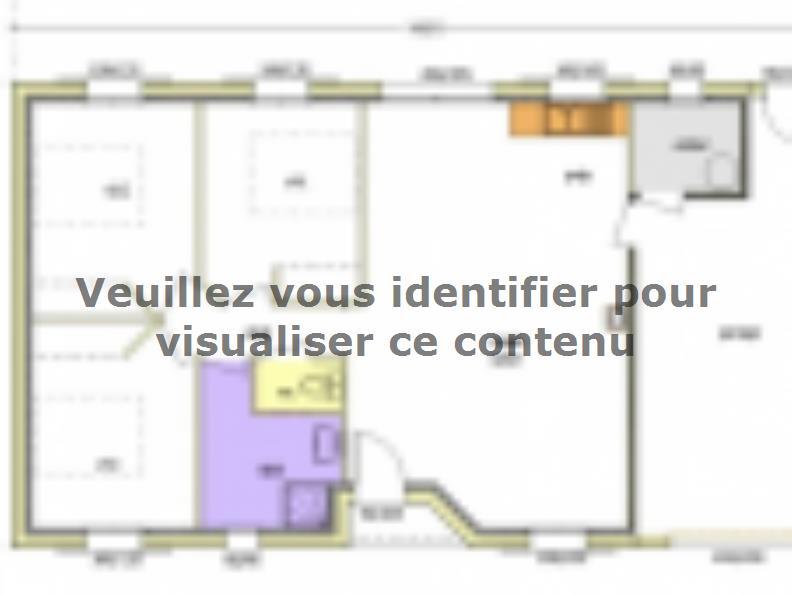 Plan de maison Avant-projet MARANS - 80 m² - 3 chambres : Vignette 2