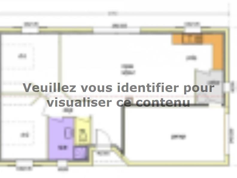 Plan de maison Avant Projet LA TRANCHE SUR MER - 75 m² - 2 chambr : Vignette 1
