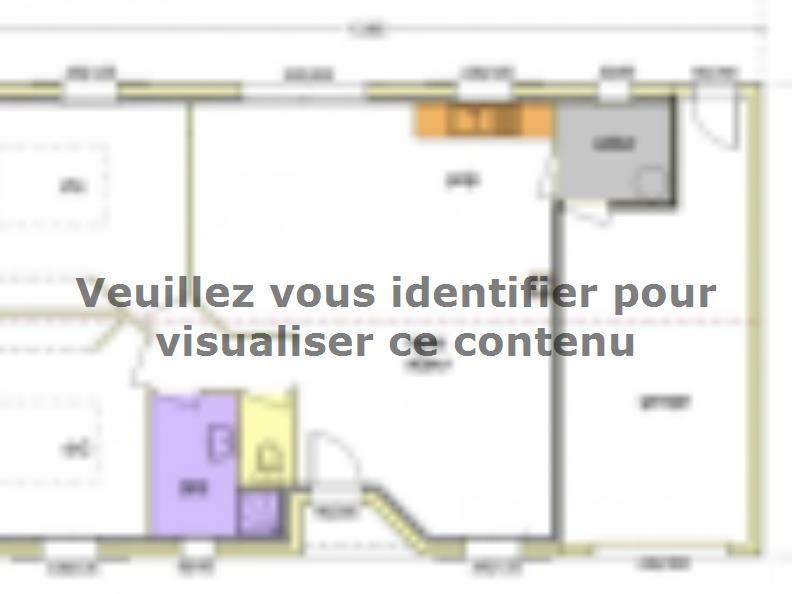 Plan de maison Avant Projet LA TRANCHE SUR MER - 75 m² - 2 chambr : Vignette 2