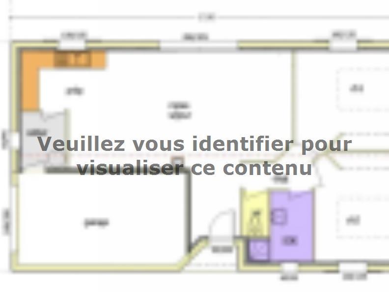Plan de maison Avant Projet LA TRANCHE SUR MER - 75 m² - 2 chambr : Vignette 3