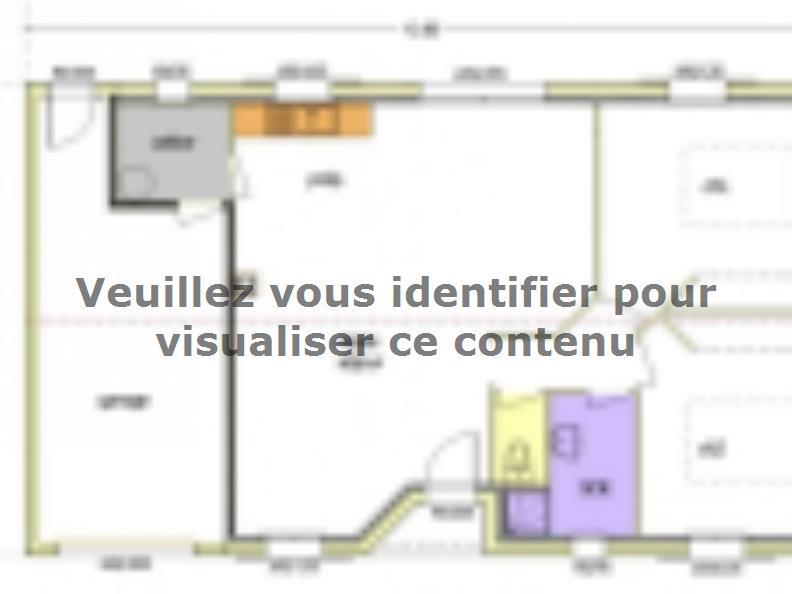 Plan de maison Avant Projet LA TRANCHE SUR MER - 75 m² - 2 chambr : Vignette 4
