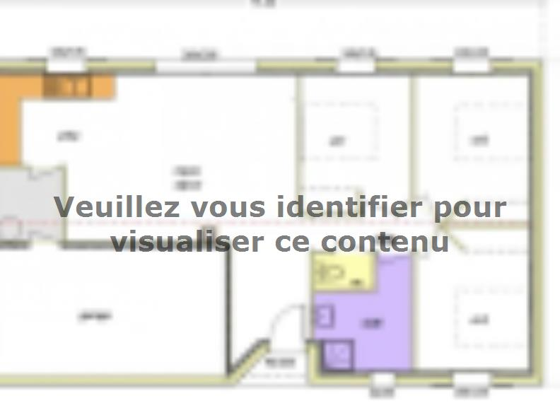 Plan de maison Avant-Projet FONTENAY LE COMTE - 80 m² - 3chambres : Vignette 3