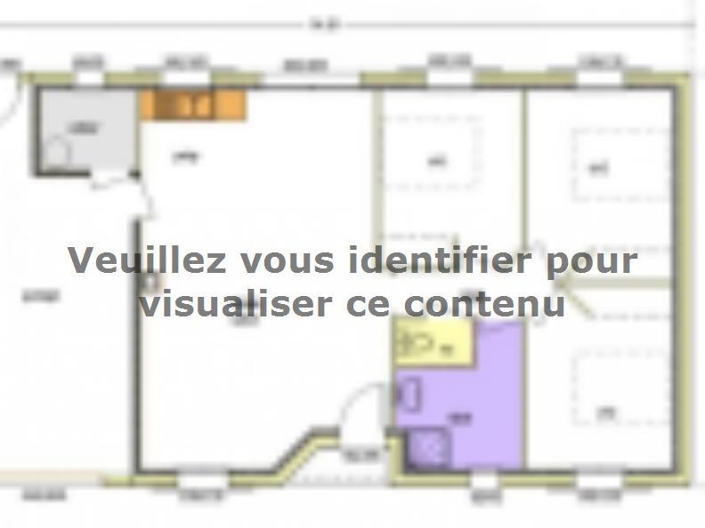 Plan de maison Avant-Projet FONTENAY LE COMTE - 80 m² - 3chambres : Vignette 4